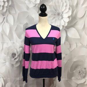Ralph Lauren Purple/Blue Long Sleeve Sweater L